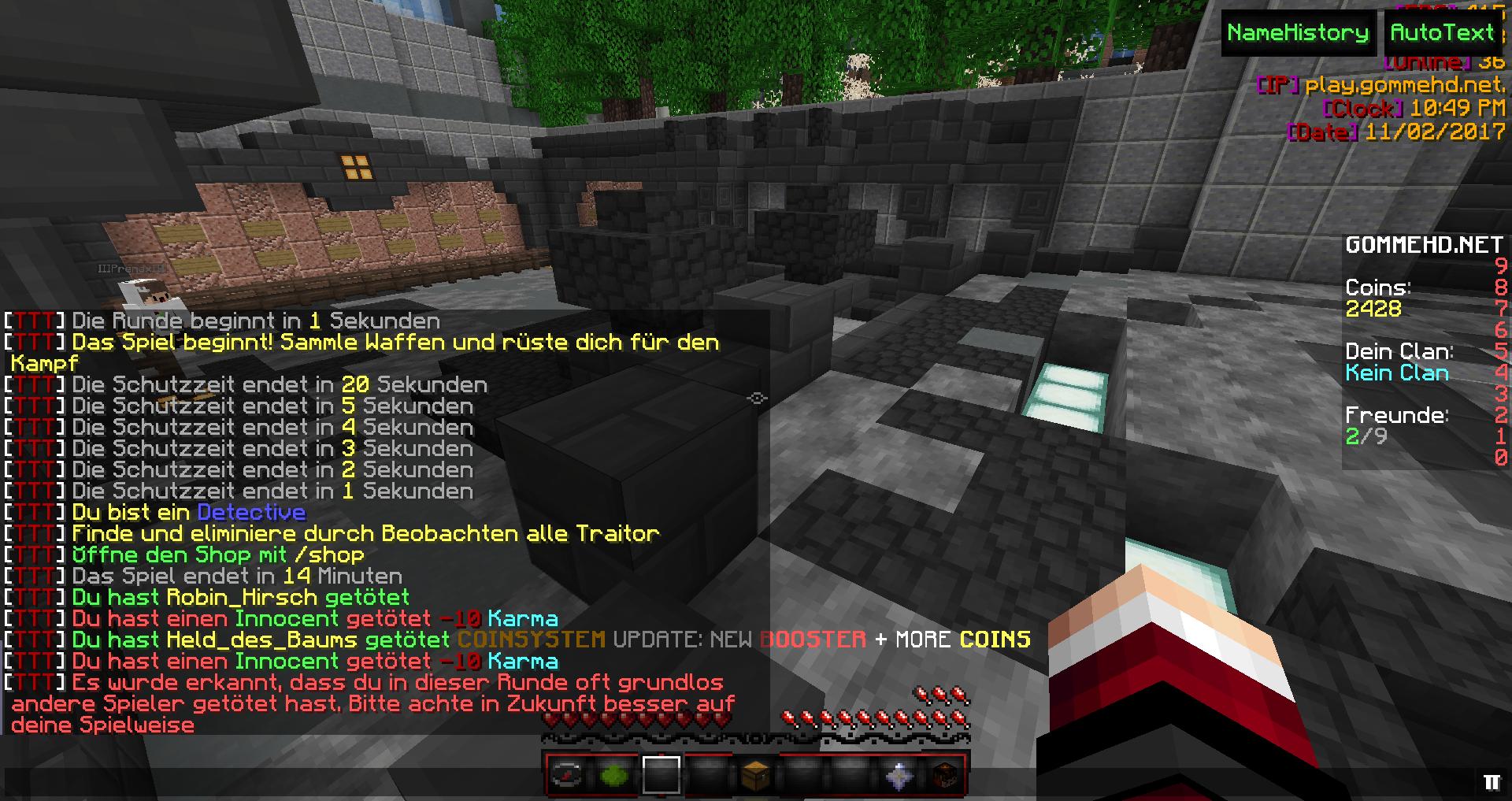 TTT TTT Nach Unabsichtlichen Kills Als Detective Gekickt - Minecraft ttt spielen