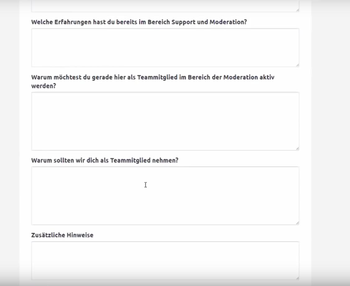 Erledigt - Formular oder freier Text bei Bewerbung | GommeHD.net