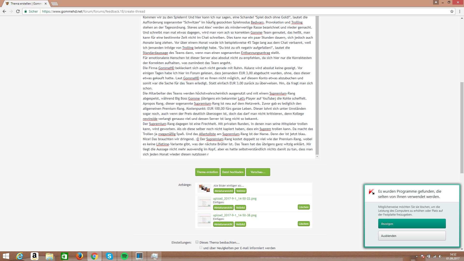 GommeHD Das Feedback GommeHDnet - Minecraft server erstellen wie gommehd