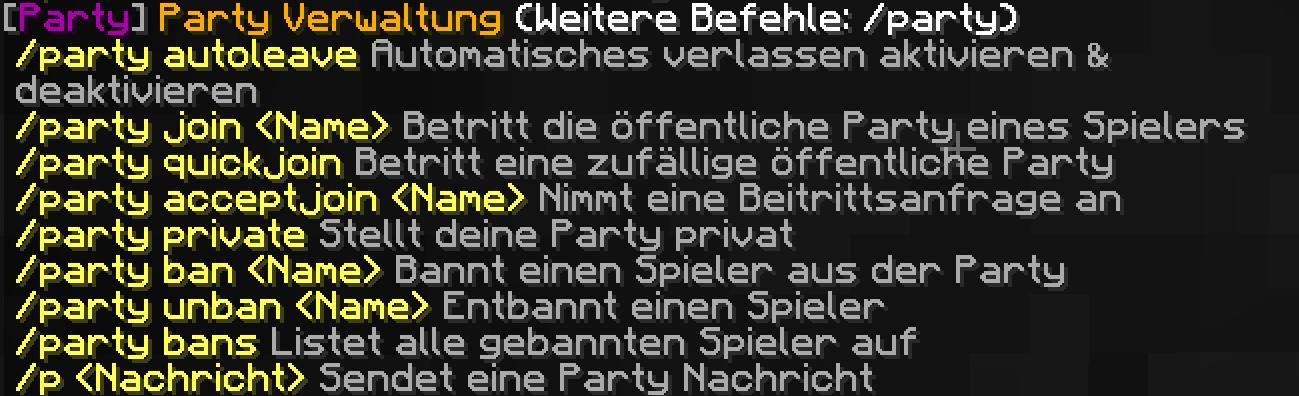 Anleitung Clan Party Friend System GommeHDnet - Minecraft spieler entbannen